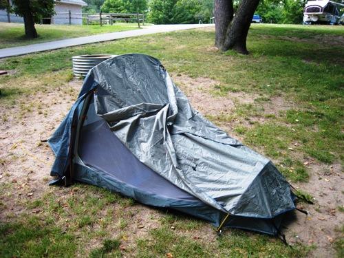 Josiah's 1st Camping Trip - Tent.JPG