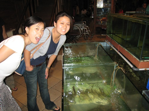 Julie and Rachel with Fish.JPG