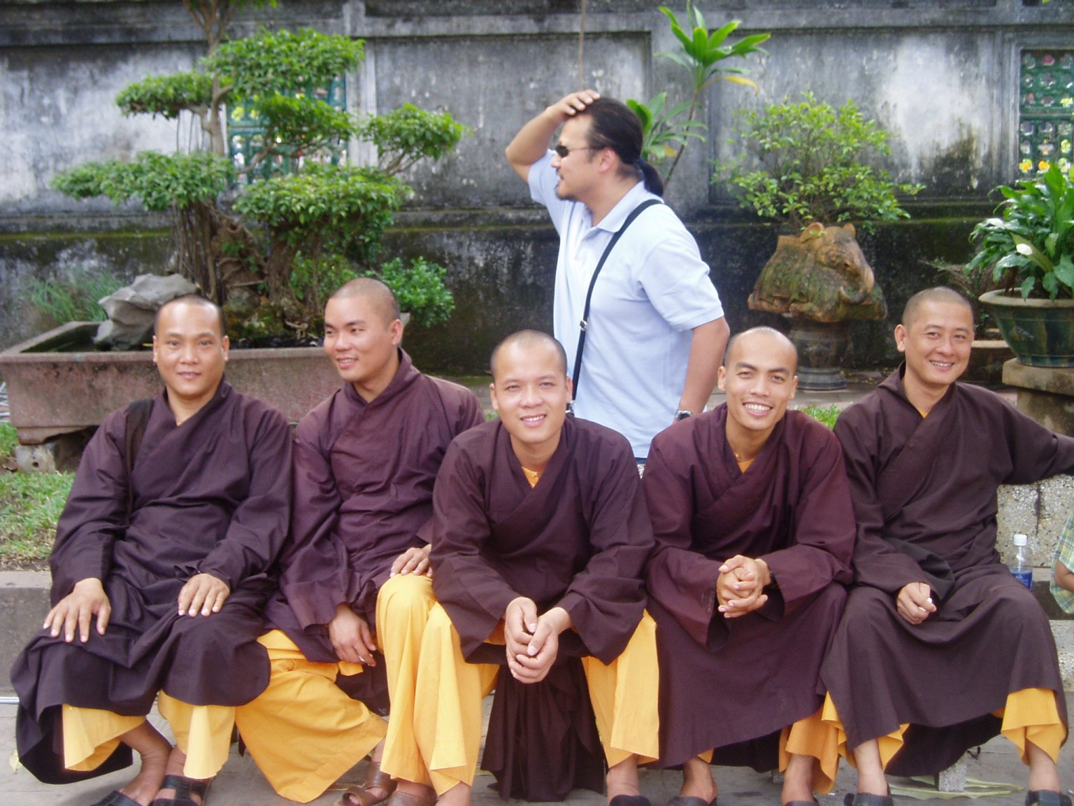 Me and Monks.JPG