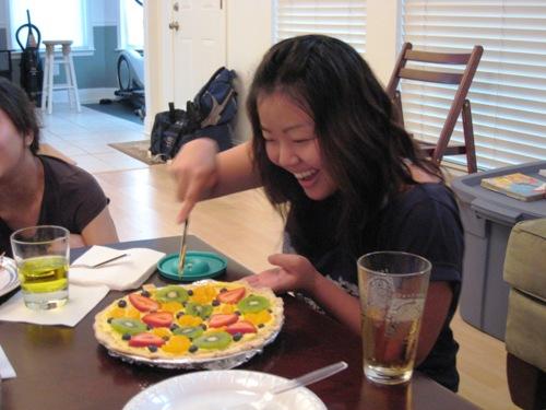 Michelle Cutting the Pie.JPG