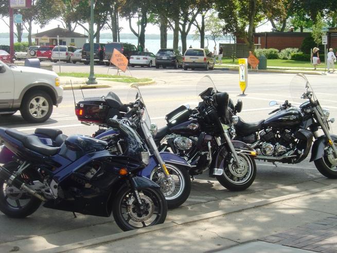 Motorcycles on Street.JPG