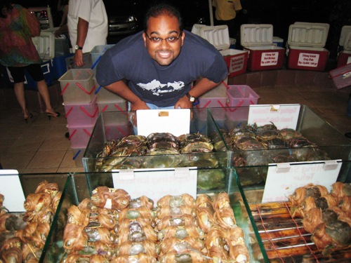 Rebi and Crabs.JPG