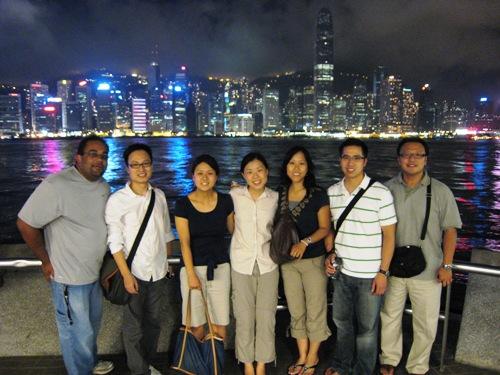 Team and HK Skyline.JPG