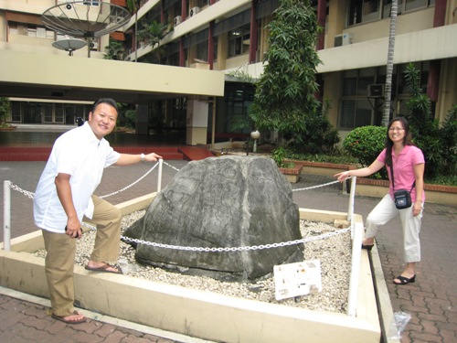 The Rock at University.JPG