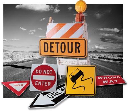 roadblock-signage