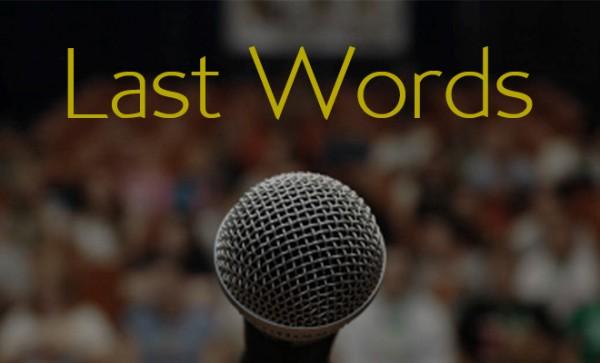 Last Words Sermon Series | sethskim.com